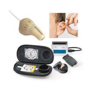 Phonak invisity es un monitor personal inalámbrico, VHF, miniatura