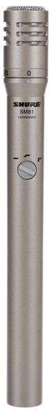 Shure SM81 es un micrófono de condensador de tipo cardioide
